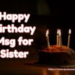 Happy Birthday Msg for Sister