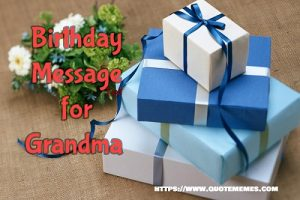 Birthday Message for Grandma