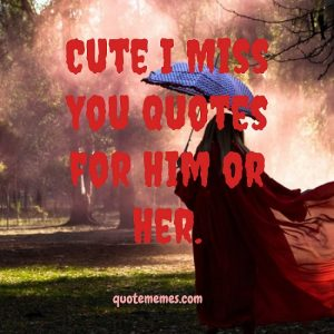 Cute I Miss You Quotes for Him or Her
