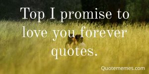 Top I promise to love you forever quotes