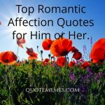 Top Romantic Affection Quotes for Him or Her