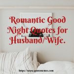 Romantic Good Night Quotes for Husband/Wife