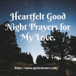 Heartfelt Good Night Prayers for My Love