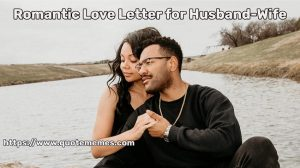 Romantic Love Letter for Husband-Wife
