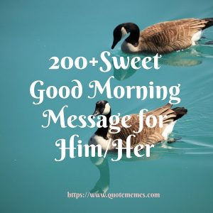 Sweet Good Morning Message for her/him