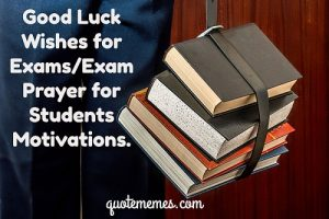 Exam wishes and prayers