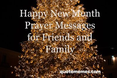 Happy new month prayer messages