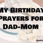 birthday Prayers for Dad and Mom