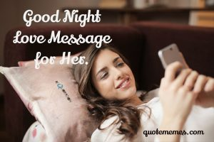 good night message for her