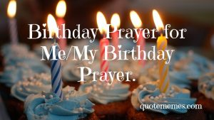 my birthday prayers