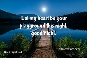 GOOD NIGHT MESSAGE TEXT