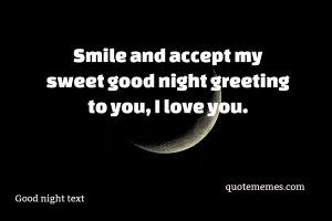 good night text msg