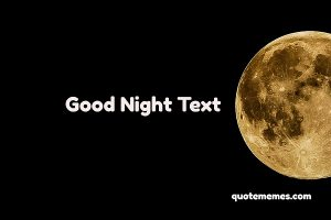 Good Night Text to Make Him-Her smile