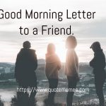 Good Morning Letter to a Friend
